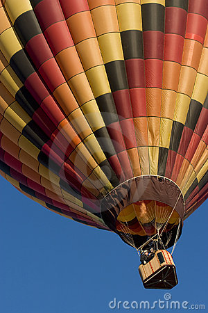Multicolor hot air balloon