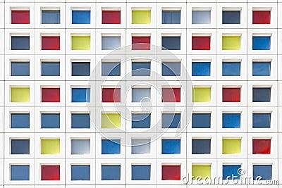 Multicolor Mandrian Office Windows