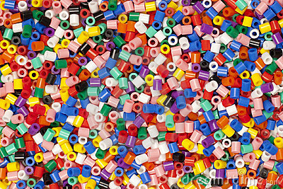 Multicolor Modelling Beads In Pile