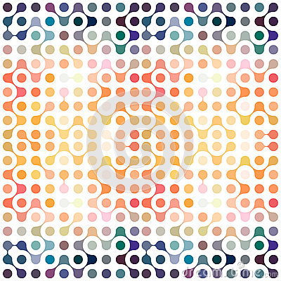 Free Multicolor Molecules Seamless Pattern Royalty Free Stock Photo - 71854995