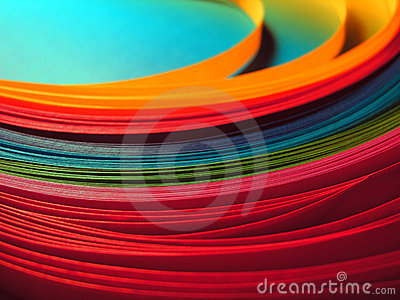 Multicolor paper rainbow background