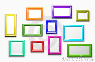 modern vibrant colored empty frames stock image image 18125401