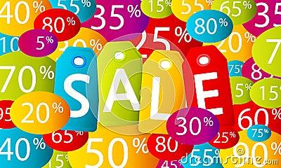 Multicolor sale background