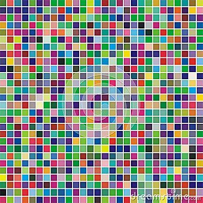Multicolor square mosaic