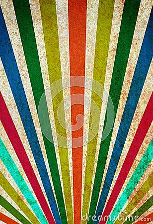 Multicolor sunbeams grunge background.