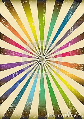Multicolor sunbeams poster