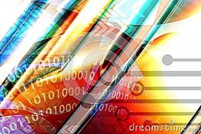 Multicolor techno background