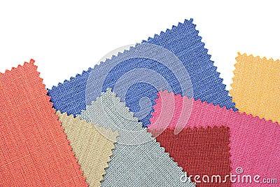 Multicolor tone of fabric sample