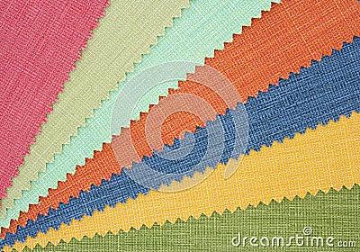 Multicolor tone of fabric texture sample