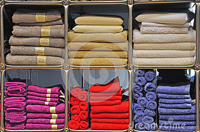 Multicolor towels