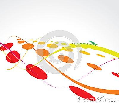 Multicolor wave halftone background
