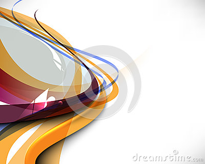 Multicolored abstract wave template background