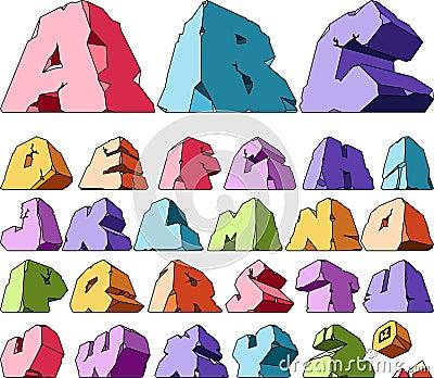 Multicolored alphabet