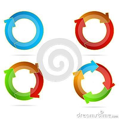 Multicolored arrows