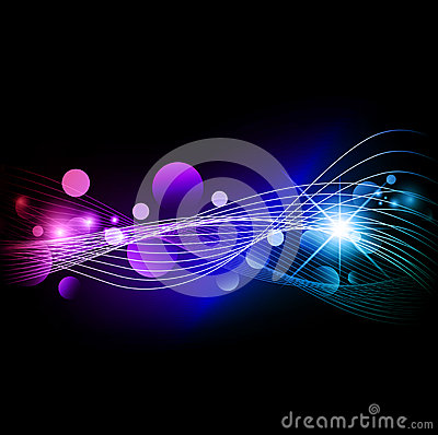 Multicolored background with lights