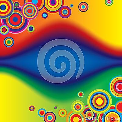 Multicolored banner