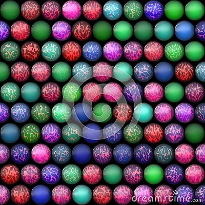 Multicolored billiard balls