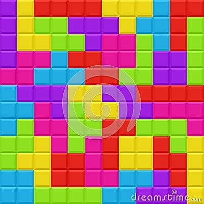 Multicolored blocks seamless background pattern