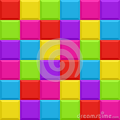 Multicolored blocks seamless background pattern
