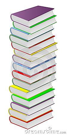 Multicolored books.