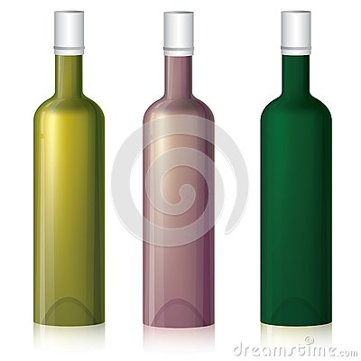 Multicolored bottle samples