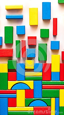 Free Multicolored Building Bricks Stock Images - 104432264