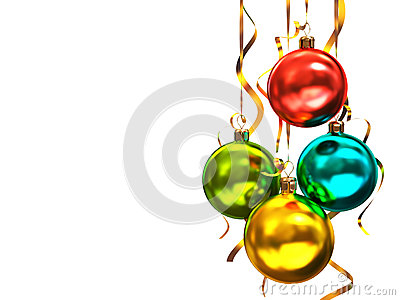 Multicolored christmas balls
