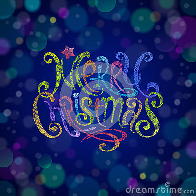 Multicolored Christmas greeting sign