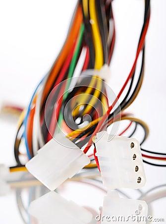 Multicolored computer cable