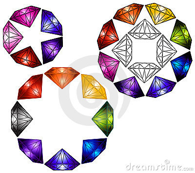 Multicolored Diamond Gems