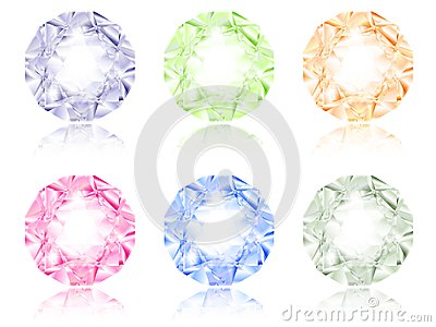Multicolored diamond set