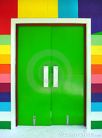 Multicolored of door