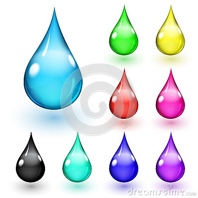 Multicolored drops