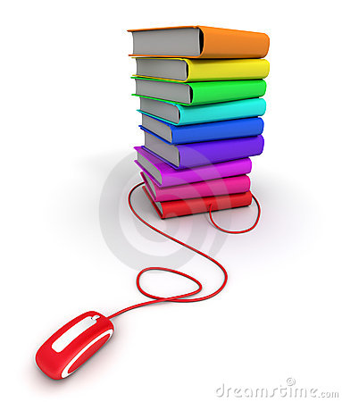 Free Multicolored E-books Royalty Free Stock Photography - 12651867