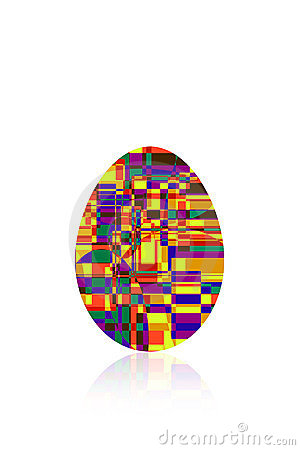 Multicolored egg