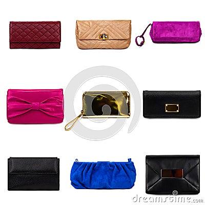 Multicolored female purses-2