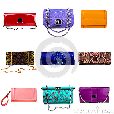 Multicolored female purses-6