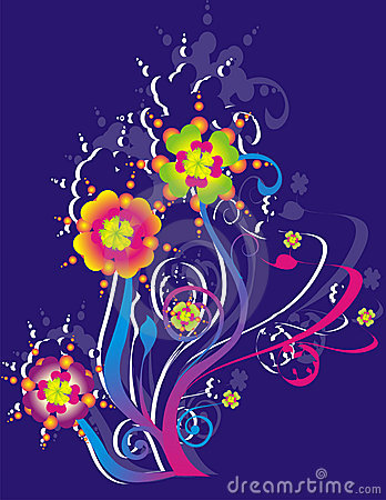 Multicolored floral illustration