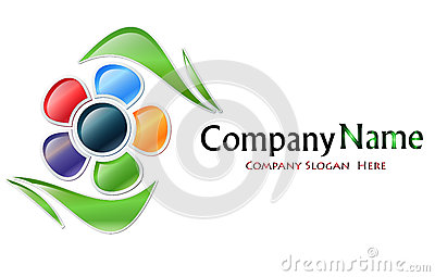 Multicolored Flower Company Logo