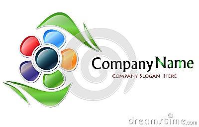 Multicolored Flower Company Logo
