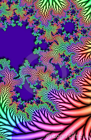 Multicolored fractal leaves