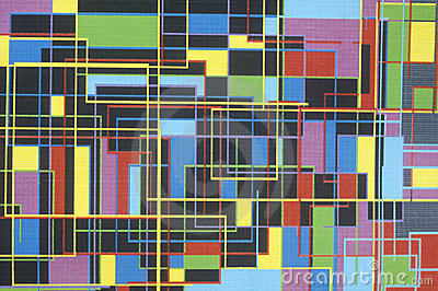 Multicolored geometric grid