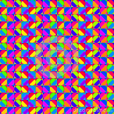 Multicolored Geometric Pattern