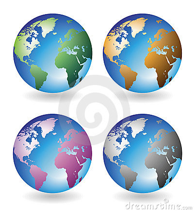 Multicolored globes