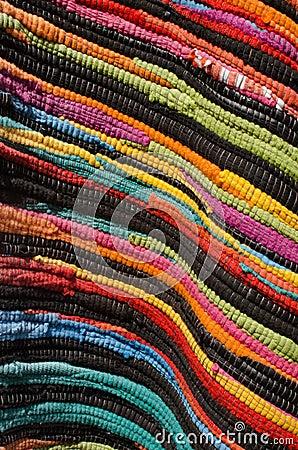 Multicolored handmade rug texture