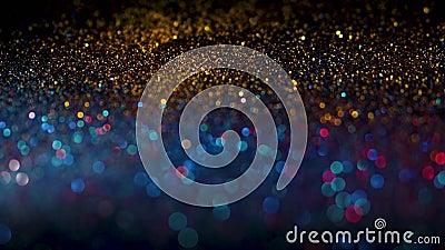 Multicolored het glinsteren glitter in nadruk en uit nadruk, abstracte glanzende achtergrond stock video