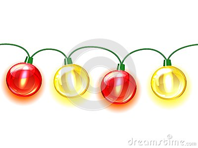 MultiColored lamp festive garland. Seamless