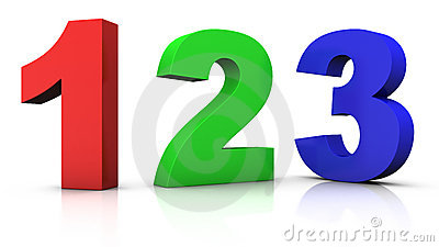 Multicolored numbers