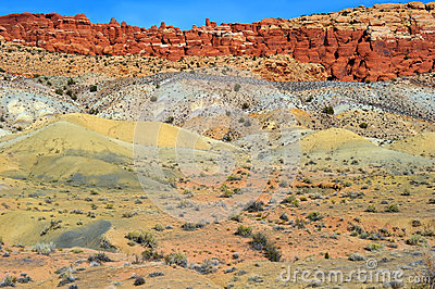 Multicolored painted sand dunes, utah