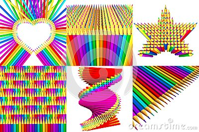 Multicolored Pencils Stock Photo - Image: 22845020